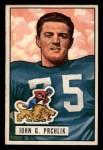 1951 Bowman #100  John Prchlik  Front Thumbnail