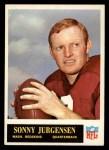 1965 Philadelphia #188  Sonny Jurgensen  Front Thumbnail
