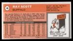 1970 Topps #48  Ray Scott   Back Thumbnail