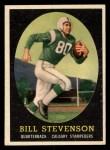 1958 Topps CFL #42  Bill Stevenson  Front Thumbnail