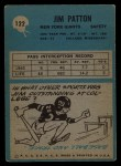 1964 Philadelphia #122  Jim Patton  Back Thumbnail
