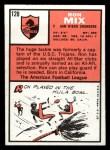 1966 Topps #128  Ron Mix  Back Thumbnail