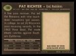 1969 Topps #180  Pat Richter  Back Thumbnail