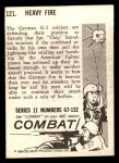 1964 Donruss Combat #121   Heavy Fire Back Thumbnail