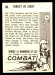 1964 Donruss Combat #88   Target in Sight Back Thumbnail