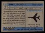 1957 Topps Planes #21 BLU  Hurel-Dubois Back Thumbnail