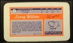 1970 Topps Super #9  Larry Wilson  Back Thumbnail
