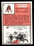 1966 Topps #9  Charles Long  Back Thumbnail