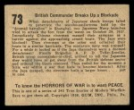 1938 Gum Inc. Horrors of War #73   British Commander Breaks Up Blockade Back Thumbnail