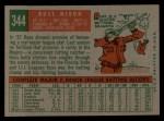 1959 Topps #344  Russ Nixon  Back Thumbnail