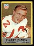 1967 Philadelphia #161  Charley Johnson  Front Thumbnail