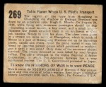 1938 Gum Inc. Horrors of War #269   Tokio Planes Wreck U.S. Pilot's Transport Back Thumbnail