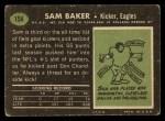 1969 Topps #154  Sam Baker  Back Thumbnail