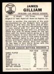 1960 Leaf #18  Jim Gilliam  Back Thumbnail