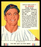 1955 Red Man #11 AL Al Rosen  Front Thumbnail