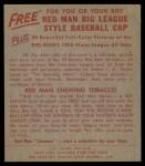 1955 Red Man #16 AL Yogi Berra  Back Thumbnail