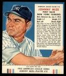 1953 Red Man #18 AL Johnny Mize  Front Thumbnail