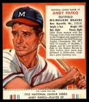 1953 Red Man #9 NL Andy Pafko  Front Thumbnail