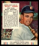 1953 Red Man #21 AL Mickey Vernon  Front Thumbnail