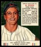 1953 Red Man #24 AL Al Rosen  Front Thumbnail