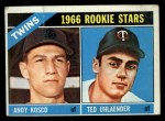 1966 Topps #264   -  Ted Uhlaender / Andy Kosco Twins Rookies Front Thumbnail
