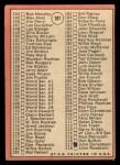 1969 Topps #107 JIM  -  Bob Gibson Checklist 2 Back Thumbnail