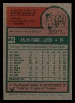 1975 Topps Mini #494  Pete LaCock  Back Thumbnail