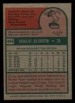 1975 Topps Mini #454  Doug Griffin  Back Thumbnail