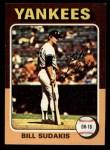 1975 Topps Mini #291  Bill Sudakis  Front Thumbnail