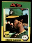 1975 Topps Mini #647  Claudell Washington  Front Thumbnail
