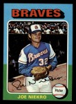 1975 Topps Mini #595  Joe Niekro  Front Thumbnail