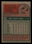 1975 Topps Mini #532  Gorman Thomas  Back Thumbnail