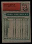 1975 Topps Mini #349  Ray Sadecki  Back Thumbnail