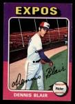 1975 Topps Mini #521  Dennis Blair  Front Thumbnail