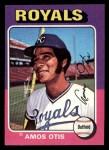 1975 Topps Mini #520  Amos Otis  Front Thumbnail