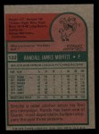 1975 Topps Mini #132  Randy Moffitt  Back Thumbnail