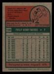 1975 Topps Mini #130  Phil Niekro  Back Thumbnail