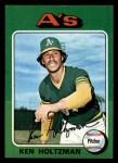 1975 Topps Mini #145  Ken Holtzman  Front Thumbnail