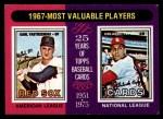 1975 Topps Mini #205   -  Carl Yastrzemski / Orlando Cepeda 1967 MVPs Front Thumbnail