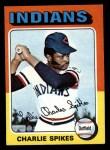1975 Topps Mini #135  Charlie Spikes  Front Thumbnail
