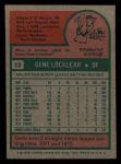 1975 Topps Mini #13  Gene Locklear  Back Thumbnail