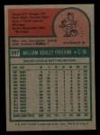1975 Topps Mini #397  Bill Freehan  Back Thumbnail