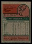 1975 Topps Mini #238  Dave Duncan  Back Thumbnail