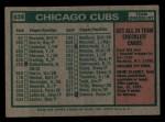 1975 Topps Mini #638   -  Jim Marshall Cubs Team Checklist Back Thumbnail