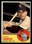 1963 Topps #308  Camilo Carreon  Front Thumbnail