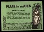 1969 Topps Planet of the Apes #7   Man Vs Beast Back Thumbnail