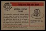 1953 Bowman Firefighters #63   Modern Pumping Engine - Ahrens Fox Back Thumbnail