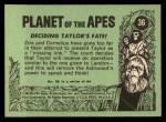 1969 Topps Planet of the Apes #36   Deciding Taylor's Fate Back Thumbnail