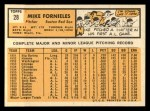 1963 Topps #28 YEL Mike Fornieles  Back Thumbnail