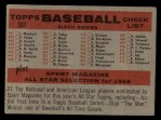 1958 Topps #397 NUM  Tigers Team Checklist Back Thumbnail